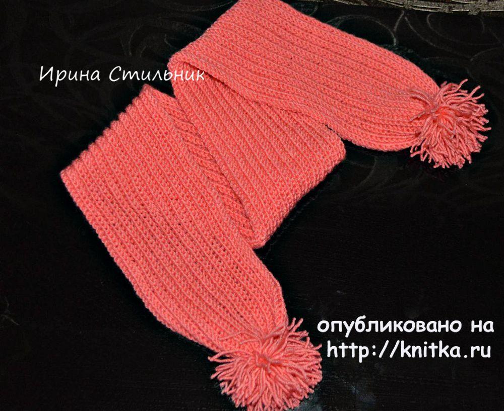 Вязание детских шарфиков спицами для начинающих 87