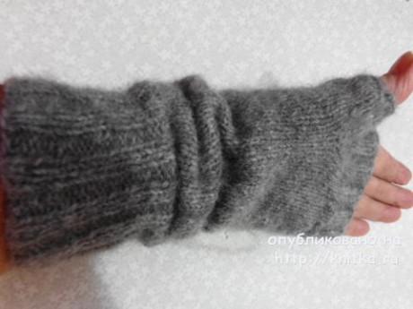 Митенки спицами. Работа Надежды Лавровой вязание и схемы вязания