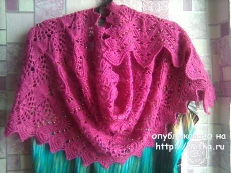 Палантин Fleece или Руно. Работа Виктории вязание и схемы вязания