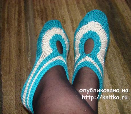 Тапочки от pawa. Работы Татьяны вязание и схемы вязания