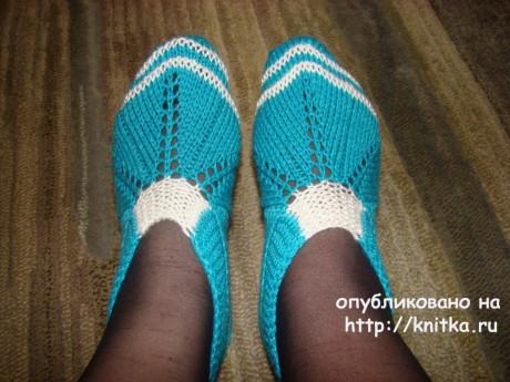 Тапочки Весенние. Работа Татьяны вязание и схемы вязания