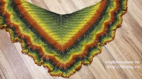 Вязаные спицами шали. Работы Екатерины Волковой вязание и схемы вязания