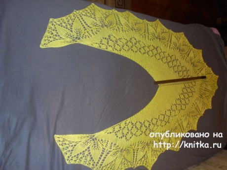 Вязаные спицами шали. Работы Светланы вязание и схемы вязания