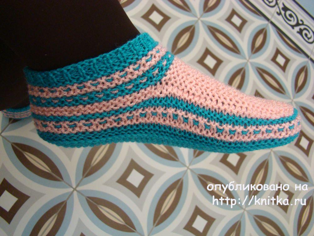 Вязание носков на 2 спицах. Схемы с подробным описанием ...