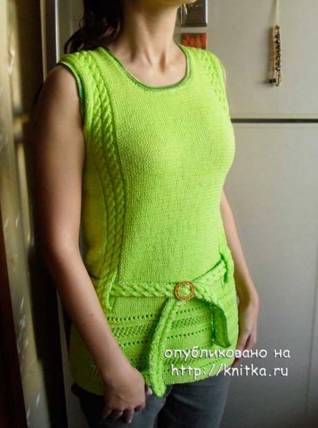 Женская кофточка спицами. Работа Ольги Ярославской вязание и схемы вязания
