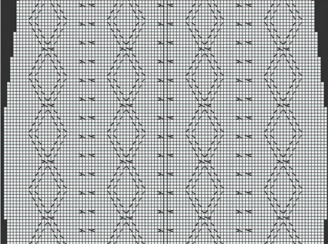 схемы вязания платья спицами