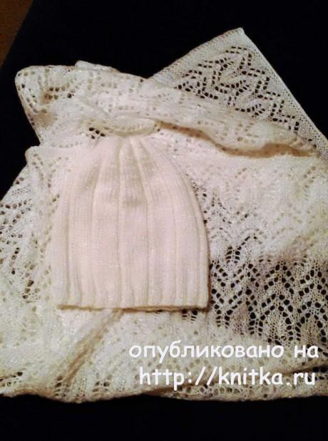 Палантин спицами. Работа  Ольги Молчановой вязание и схемы вязания