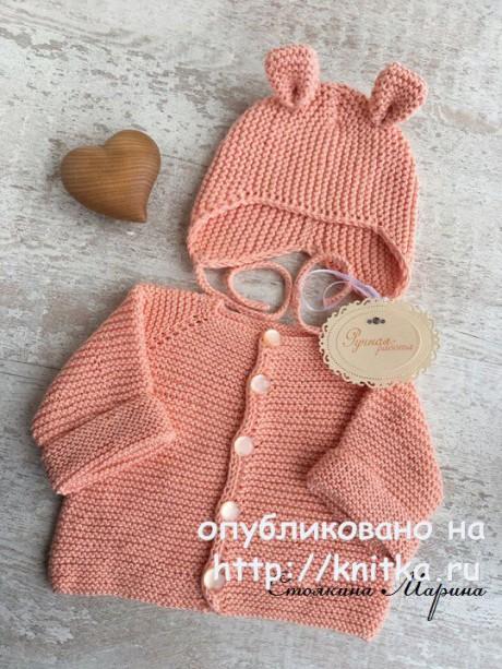 Плед, кофточка и шапочка для малыша. Работы Марины Стоякиной вязание и схемы вязания