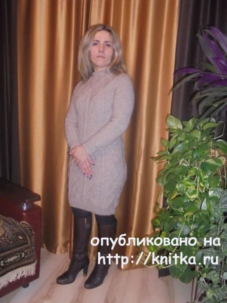 Вязаное спицами платье. Работа Татьяны Ивановны вязание и схемы вязания