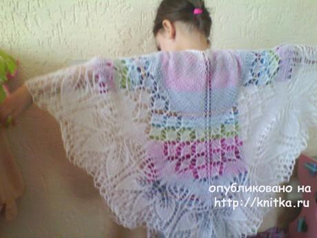 Вязаные спицами шали. Работы Натальи Шевченко вязание и схемы вязания