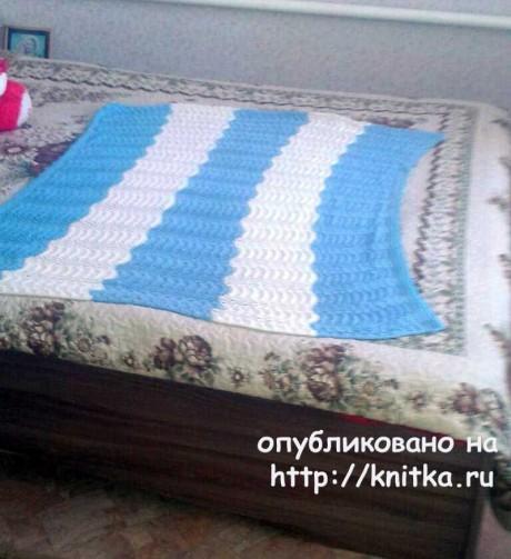Вязаный спицами плед для мальчика. Работа Оксаны Адаменко вязание и схемы вязания