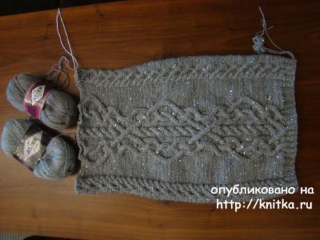 Женское платье спицами. Работа Татьяны вязание и схемы вязания