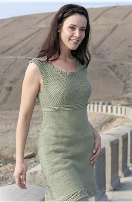 Фото вязаного сарафана спицами