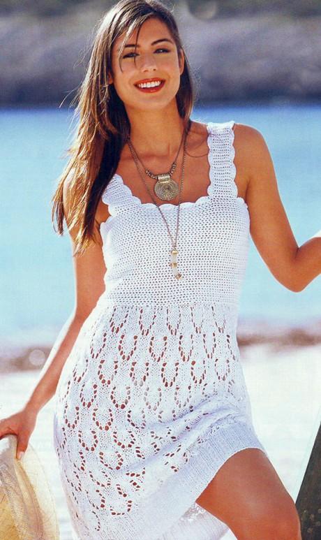 Вязание спицами летние платья и сарафаны 50