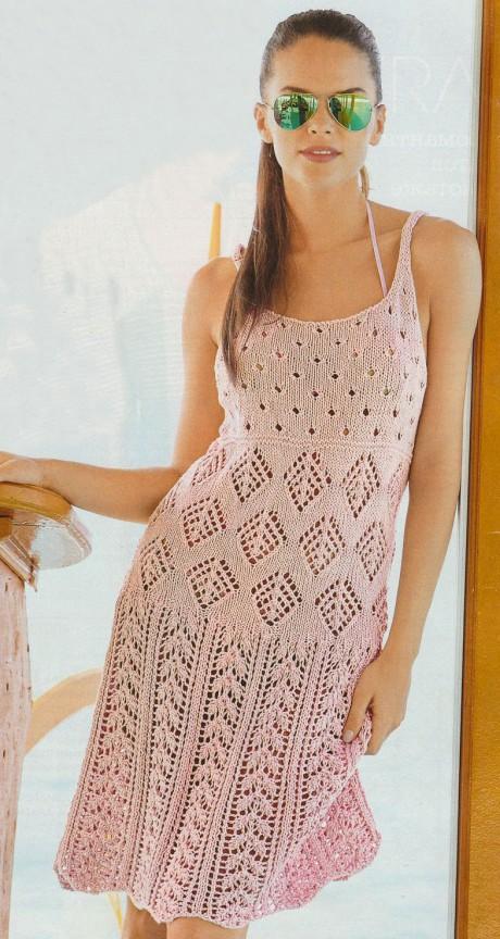фото вязаного спицами сарафана