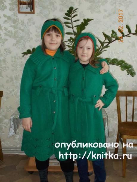 Кардиган для девочки спицами. Работа Валентины Кирсановой вязание и схемы вязания