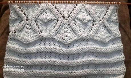 Кардиган спицами Белые желуди. Работа Натальи Няппи вязание и схемы вязания