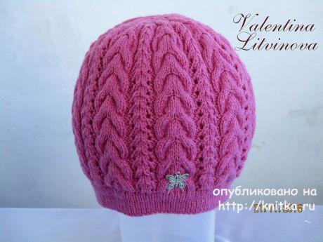Комплект: шапочка и снуд для девочки спицами вязание и схемы вязания