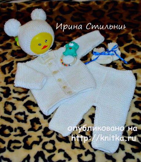 Костюм для новорожденного. Работа Ирины Стильник вязание и схемы вязания