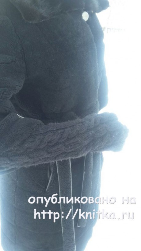 Митенки спицами. Работа Оксаны Адаменко. Вязание спицами.