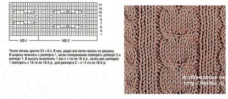 Мужская шапка и шарф спицами. Работы Валентины Литвиновой вязание и схемы вязания