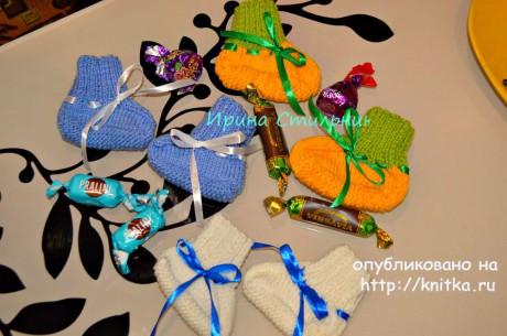 Пинетки спицами. Работы Ирины Стильник вязание и схемы вязания