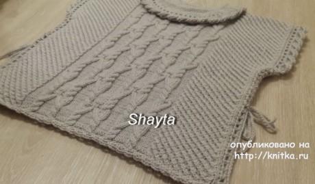 Пончо - пуловер Shayta для девочки. Работа Оксаны Усмановой вязание и схемы вязания