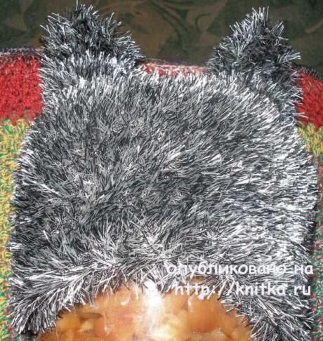 Шапка - кошка спицами. Работа Елены вязание и схемы вязания
