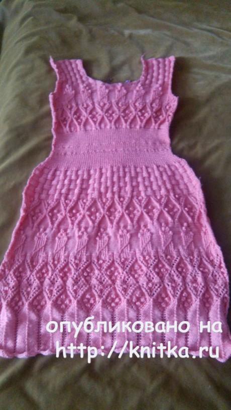 Женское платье спицами. Работа Ирины вязание и схемы вязания