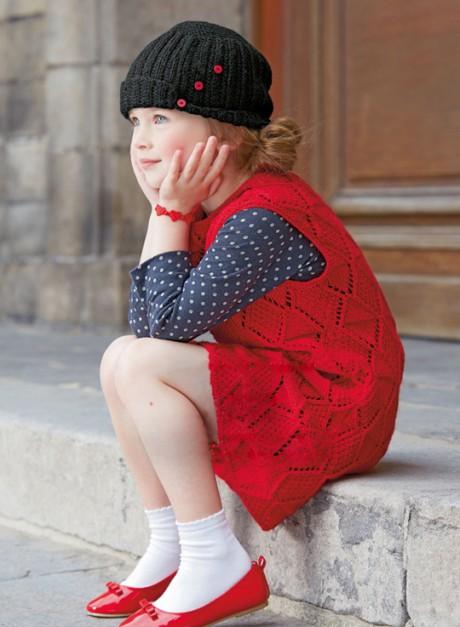 сарафан для девочки спицами фото