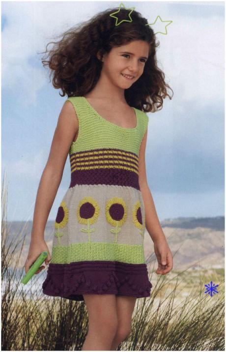 сарафан спицами для девочки фото