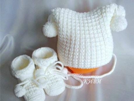 фото шапки для девочки спицами