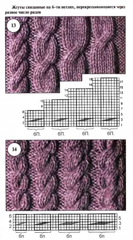 схема вязания аранов спицами