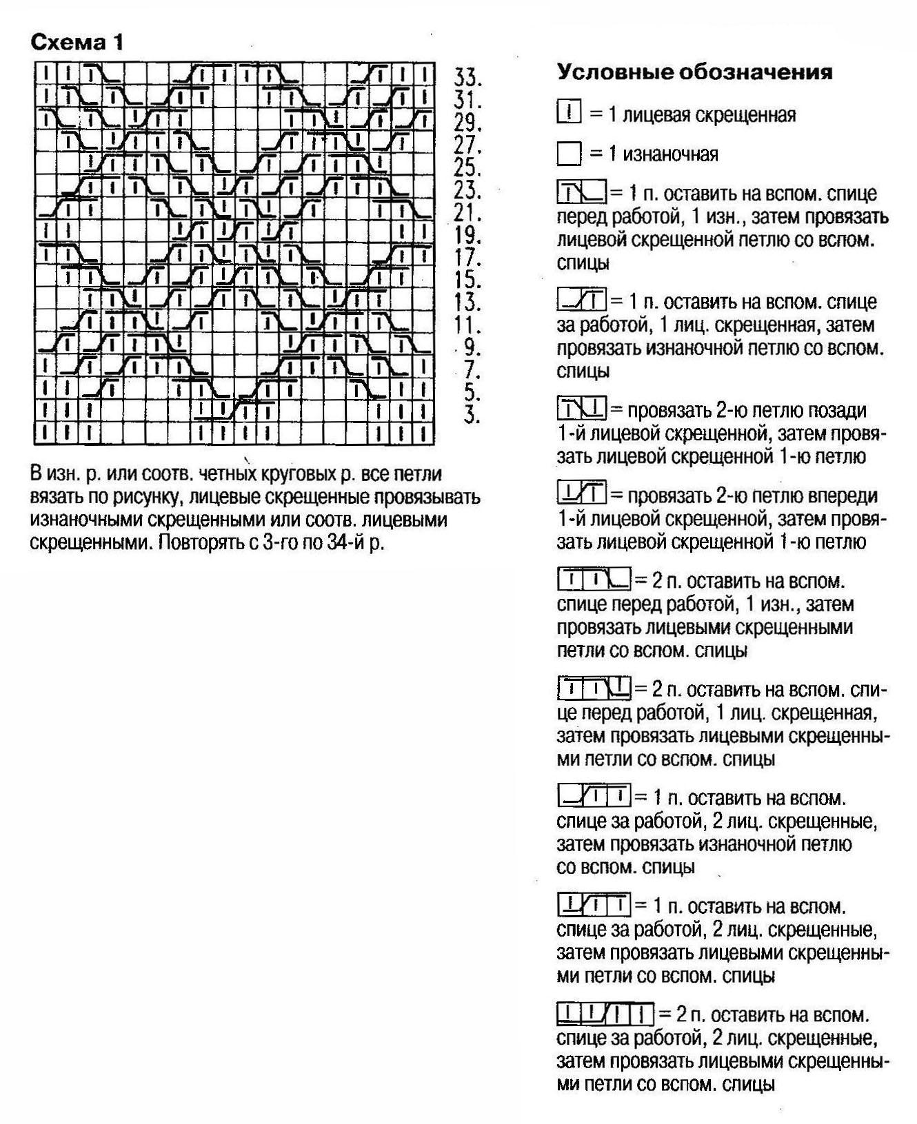 Вязание варежек схемы и узоры для спиц 235
