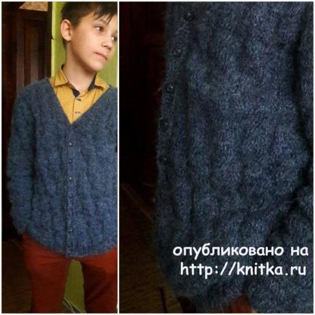 Джемпер для мальчика спицами. Работа Оксаны вязание и схемы вязания
