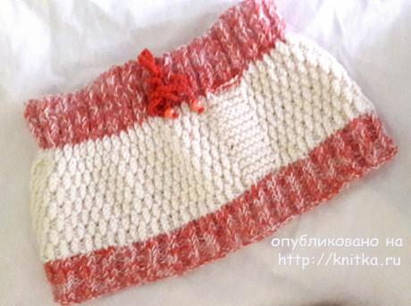 Комплект: шапка - ушанка и шарф - хомут для девочки вязание и схемы вязания