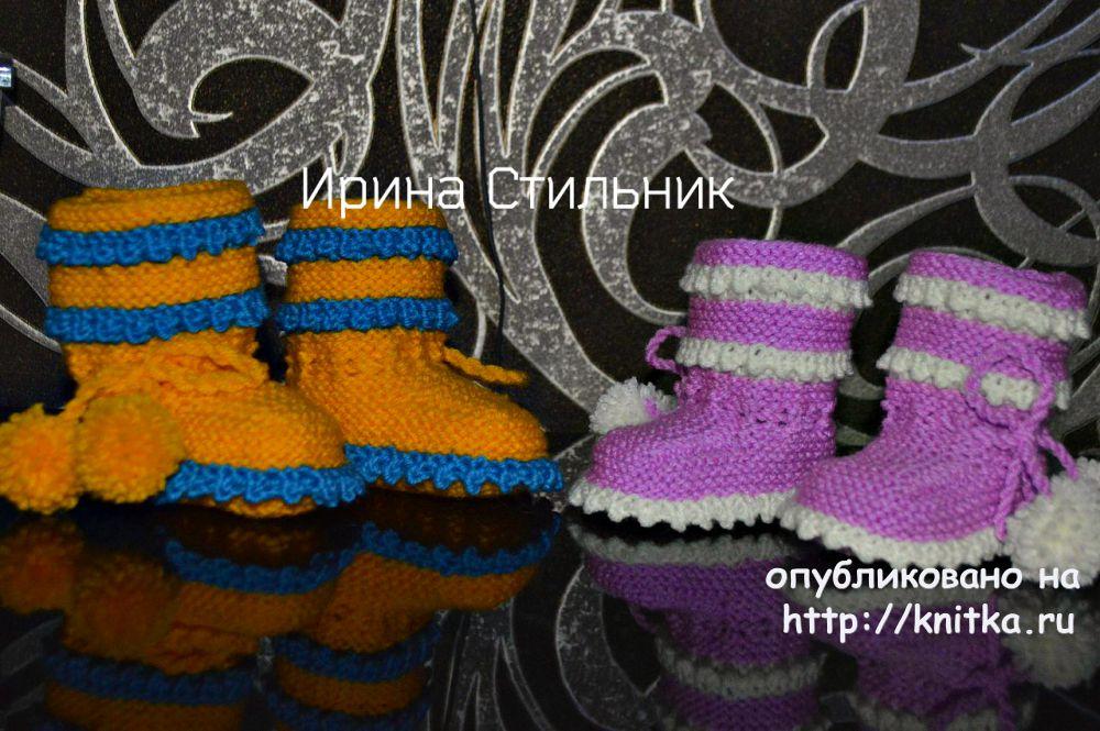 пинетки с узором кукурузка работа ирины стильник вязание для детей