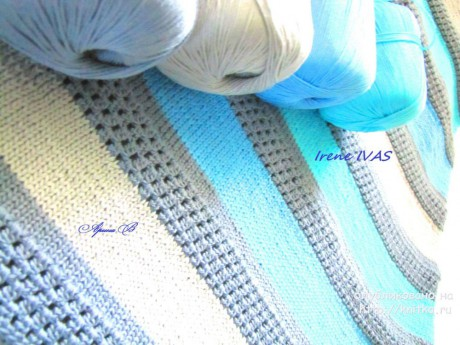 Сарафан Верона крючком и спицами. Работа Irene IVAS вязание и схемы вязания