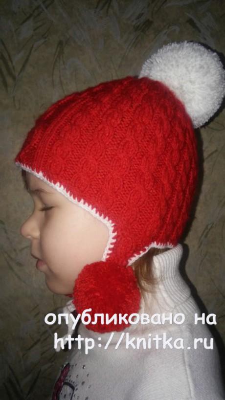 Шапка и шарф спицами. Работы Яны Петровой вязание и схемы вязания