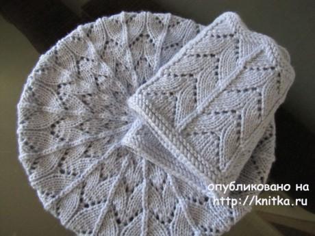 Снуд и берет спицами, комплект Майра. Работа Irene IVAS вязание и схемы вязания