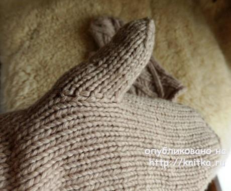 Варежки спицами. Работа Елены Мерцаловой вязание и схемы вязания