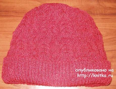 Вязаные спицами шапки. Работы Елены вязание и схемы вязания
