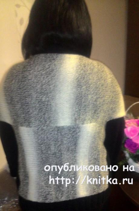 Вязаный кардиган в стиле over size. Работа Виктории Кириченко вязание и схемы вязания