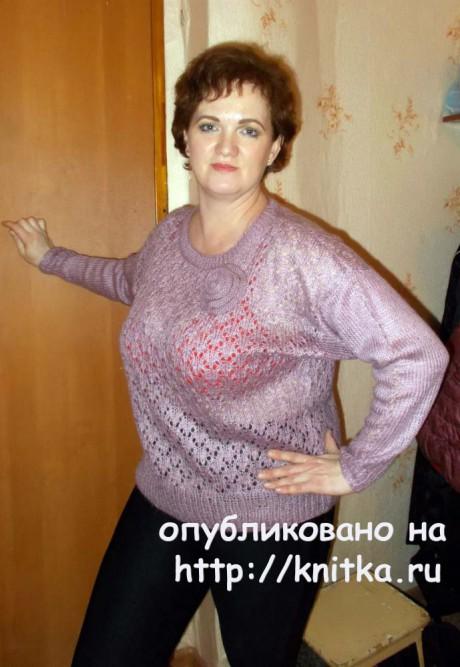 Женская кофточка спицами. Работа Валентины Кирсановой вязание и схемы вязания