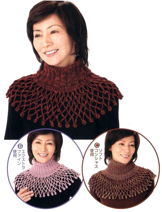 92Ютуб вязание шарфа воротника