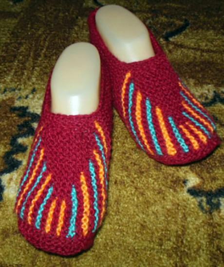 Вяжем носки тапочки спицами