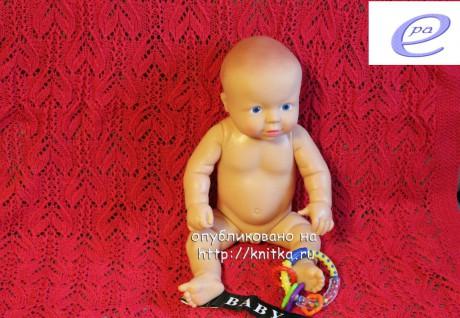 Детский плед спицами. Работа Веры Коваль вязание и схемы вязания