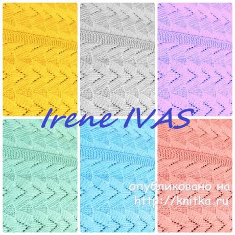 Кардиган спицами. Работа Irene IVAS вязание и схемы вязания