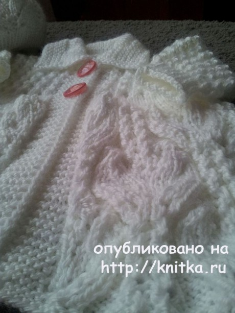Комплект для девочки спицами. Работа Валентины вязание и схемы вязания