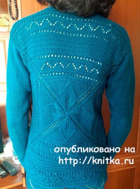 Пуловер спицами Легкий шарм. Работа Марины Ефименко вязание и схемы вязания